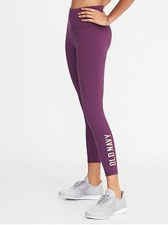 9de8cdb1c3a High-Rise Elevate Compression Logo 7 8-Length Leggings for Women