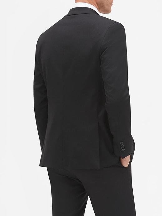 Slim-Fit Stretch Black Blazer
