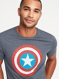 T-shirt imprimé Capitaine America de MarvelMC pour homme