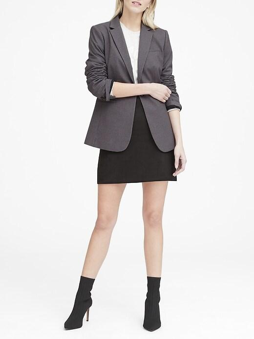 Long and Lean-Fit Sparkle Pinstripe Blazer