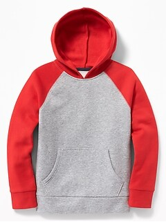 679c8e7501683 Color-Blocked Raglan-Sleeve Pullover Hoodie for Boys