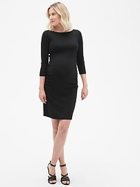 Maternity Modern Boatneck Dress