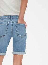 """Mid Rise 9"""" Denim Bermuda Shorts"""