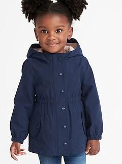 26b71b1dd22c Water-Resistant Hooded Anorak for Toddler Girls