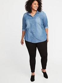 Classic Chambray No-Peek Plus-Size Shirt