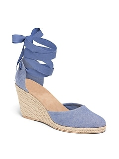 9e210f319a2 Chambray Espadrille Wedges for Women