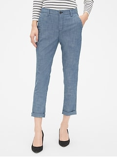 2c4d83bb09e Girlfriend Chinos in Chambray