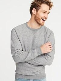 Classic Crew-Neck Raglan-Sleeve Sweatshirt for Men