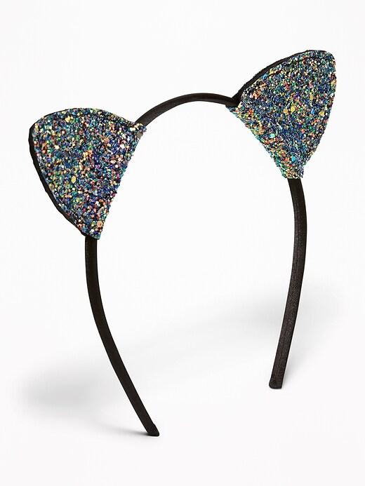 Glitter Cat's-Ear Headband for Girls