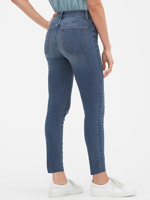 High Rise Destructed Legging Skimmer Jeans