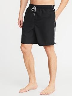 1b1841b69d Side-Stripe Swim Trunks for Men - 8-inch inseam