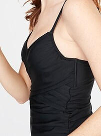 Wrap-Front Tankini Top for Women