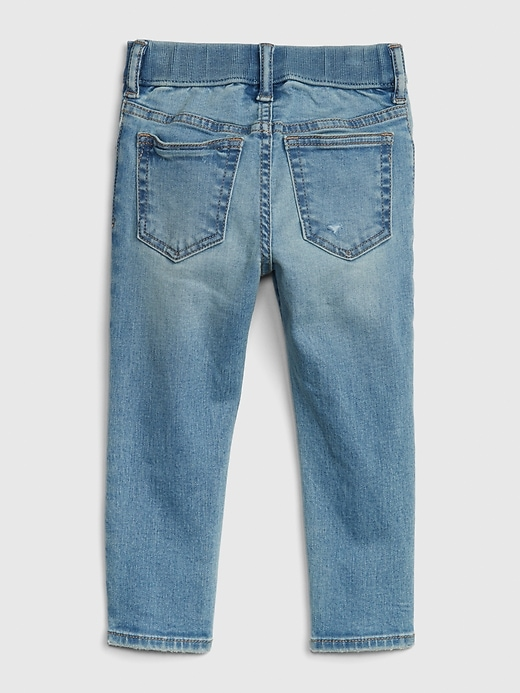 Toddler Elasticized Pull-On Slim Taper Jeans with Stretch