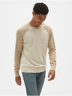 301b5684b425 Crewneck Pullover Sweater in Linen-Cotton