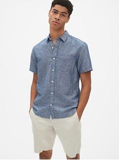 d394e53e062 Linen-Cotton Short Sleeve Shirt in Standard Fit