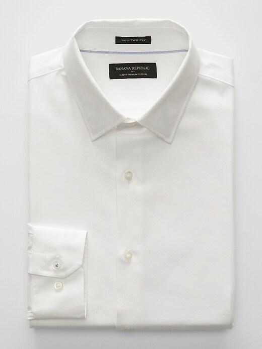Slim-Fit Premium Cotton Off-White Shirt