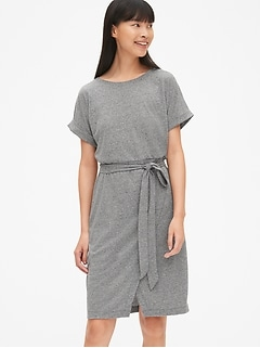 0bb194669e9b Wrap T-Shirt Dress in Triblend Jersey