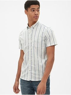 13b43fe0a6 Lived-In Stretch Oxford Short Sleeve Shirt