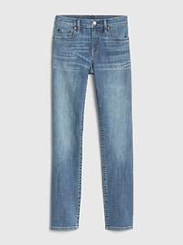 Jean coupe droite classique à taille moyenne