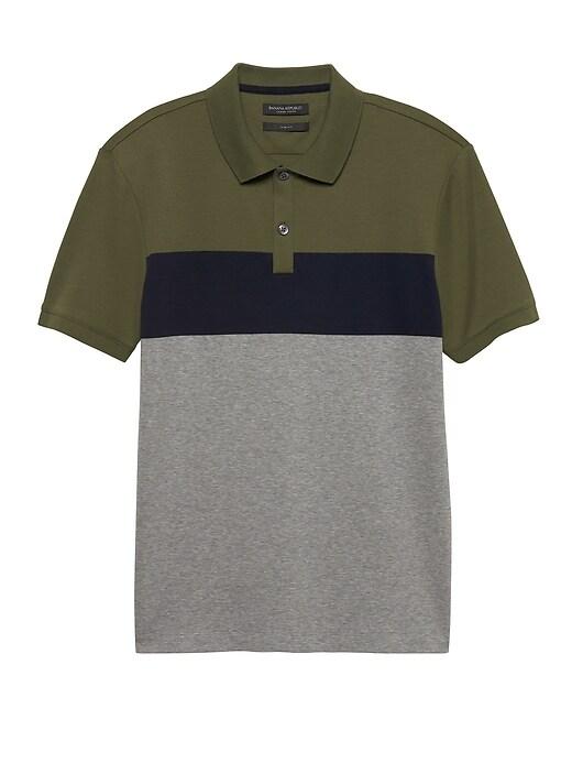 Slim Luxury-Touch Stripe Polo