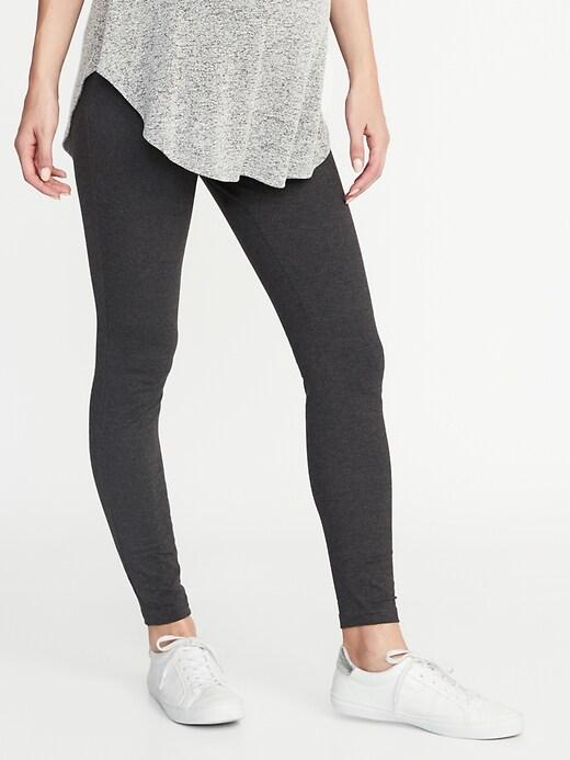 Legging en jersey de maternité avec panneau complet