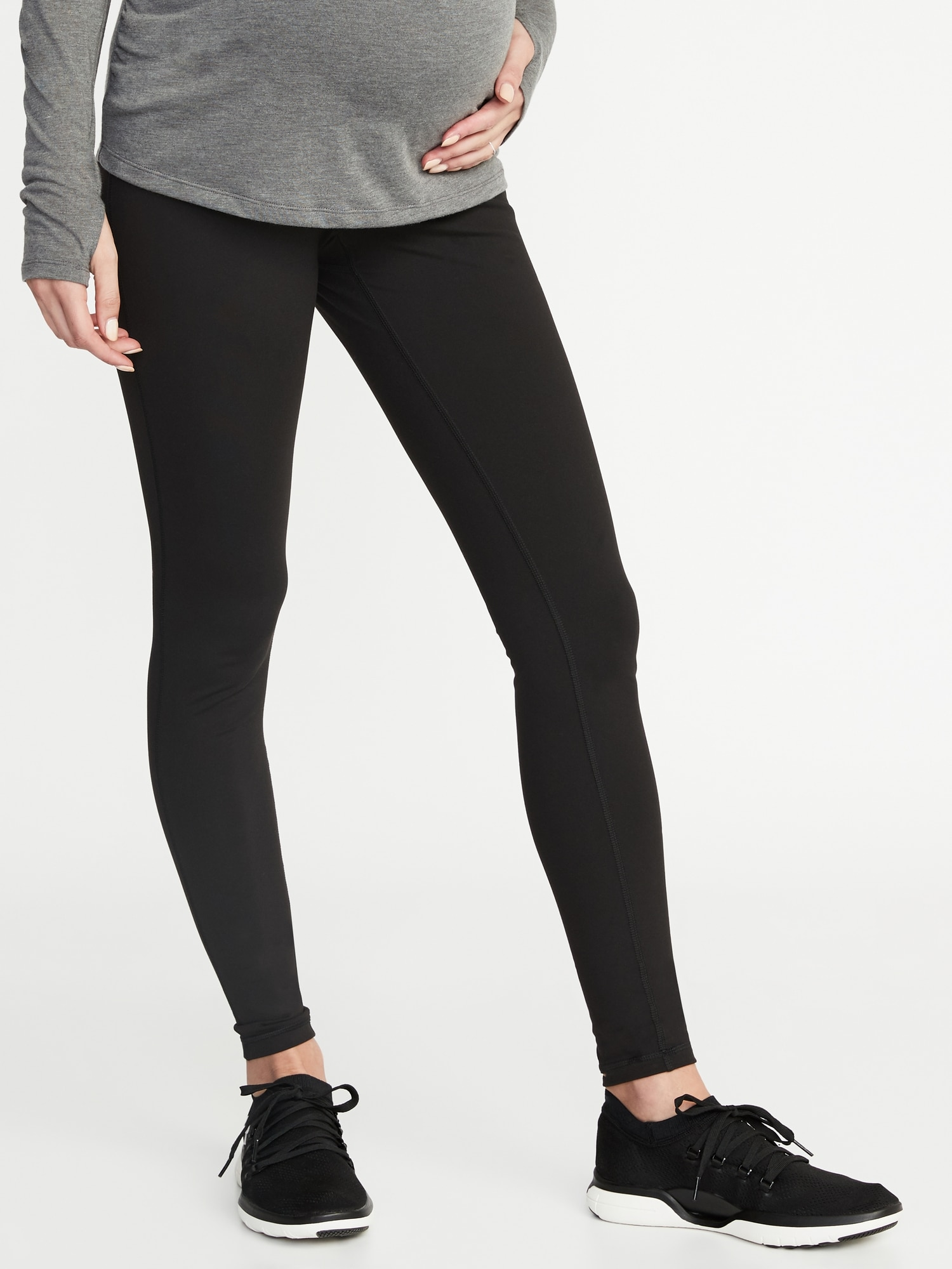 Maternity High Waisted Elevate Compression Leggings Old Navy