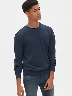 671aeb4d0c3 Crewneck Pullover Sweater in Linen-Cotton