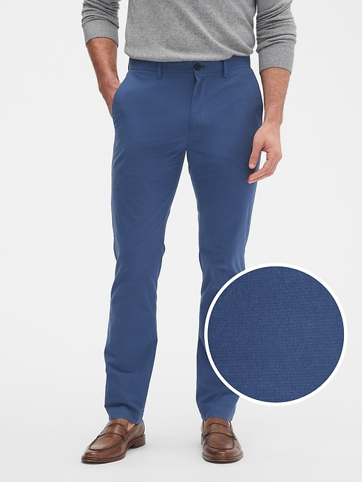 Aiden Slim-Fit Mini Houndstooth Pant