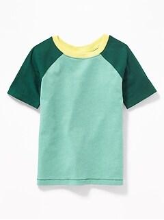 aa7274b4b Color-Blocked Raglan-Sleeve Tee for Toddler Boys