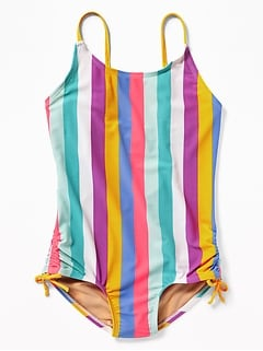 0c7efe8841 Printed Cut-Out Back Swimsuit for Girls