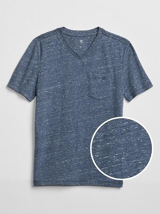 Kids Short Sleeve V-Neck T-Shirt