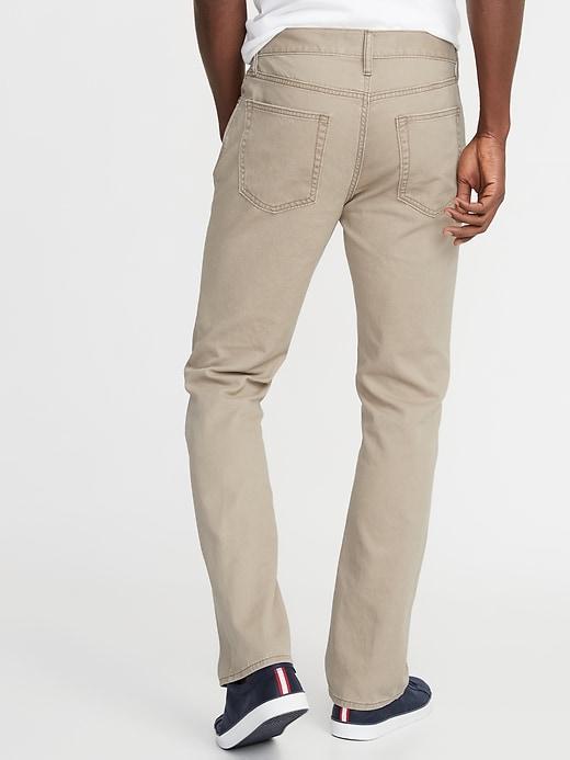 Twill Five-Pocket Boot-Cut Pants For Men