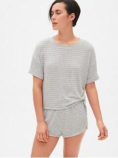 67bef6af5f Softspun Stripe Roll-Sleeve T-Shirt