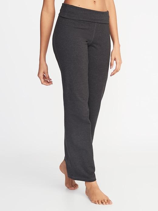 Mid-Rise Wide-Leg Yoga Pants for Women