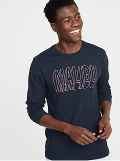7d3ea6c2f9a Graphic Soft-Washed Long-Sleeve Tee for Men
