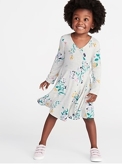 Wrap-Front Fit   Flare Jersey Dress for Toddler Girls d91e13386680