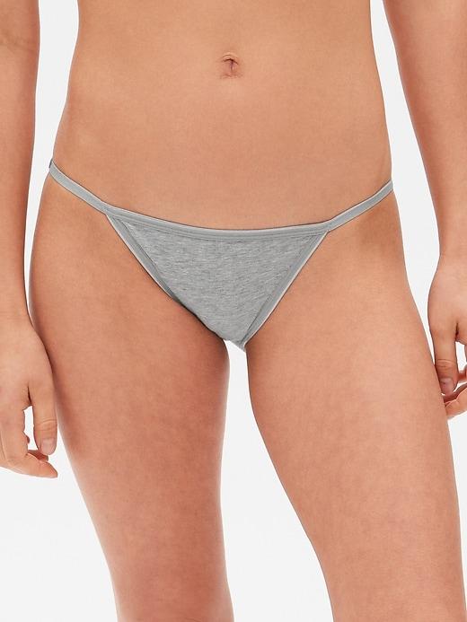 Stretch Cotton String Bikini