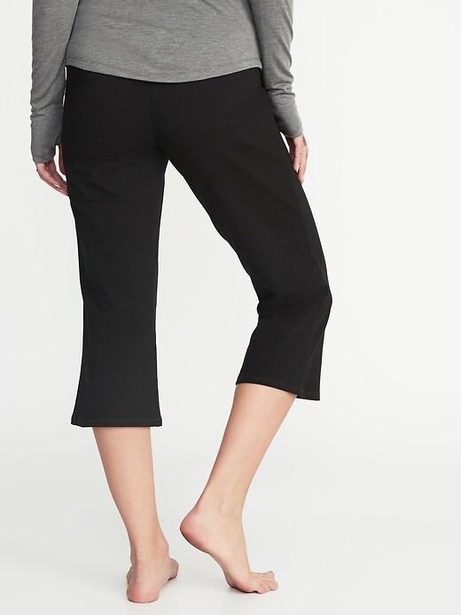 Maternity Rollover-Waist Wide-Leg Yoga Crops