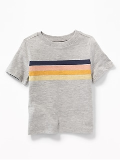 af9571e6 Chest-Stripe Crew-Neck Tee for Toddler Boys