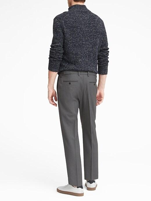 Heritage Slim Tapered Italian Wool Cropped Suit Pant