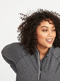 Soft-Brushed 1/4-Zip Plus-Size Performance Pullover
