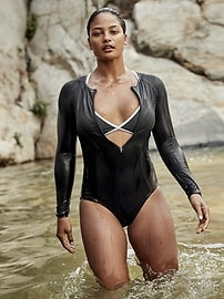 Cortes Long Sleeve One Piece Swimsuit