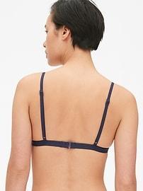 Haut de bikini avec bonnets triangulaires à rayures