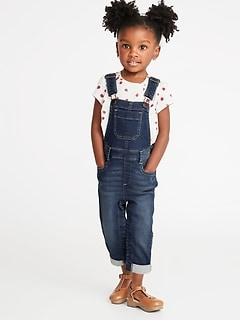 933303f6b8 24 7 Denim Overalls for Toddler Girls