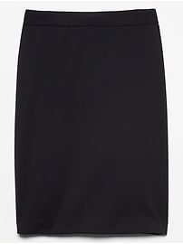 Washable Lightweight Wool Suit Pencil Skirt