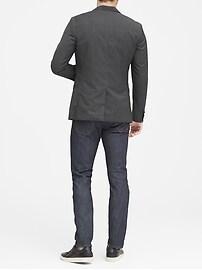Slim Italian Wool Plaid Suit Jacket