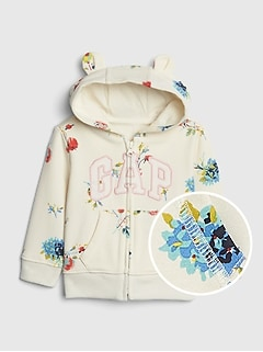 5c78f94ca3721 Baby Gap Logo Floral Hoodie Sweatshirt