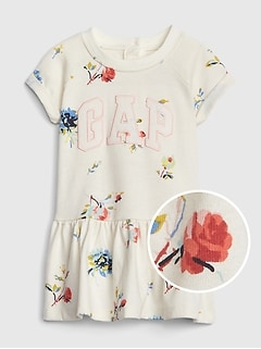 7726cc31fe9e Gap Logo Floral Fit And Flare Dress