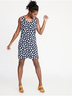 76b8a25175d Sleeveless V-Neck Shift Dress for Women