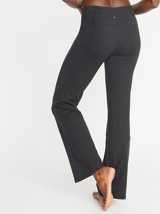 Pantalon de yoga semi-évasé à taille haute pour femme